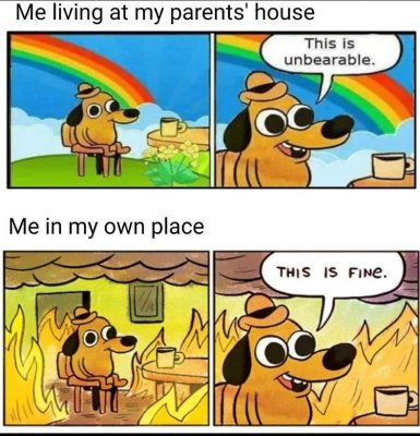 moved out, but this is fine