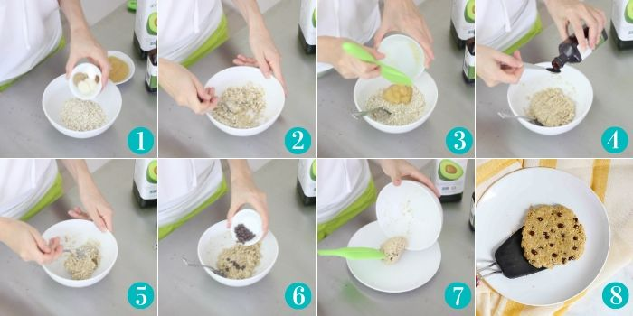 five minute microwave oatmeal cookie