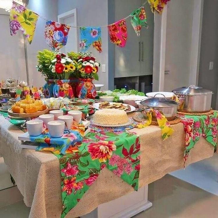 festa junina-mesa-decorada