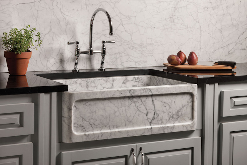 new kitchen sink wall tile designs our guide to selecting a material for your 2 stone forest haven carrara marble farmhouse