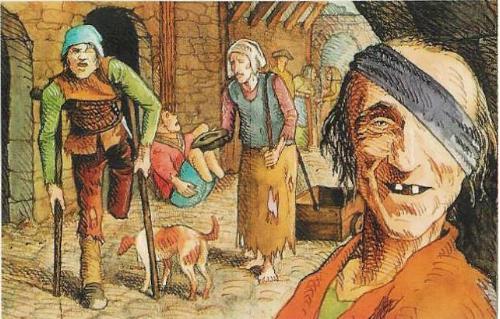 Mendiants-Moyen-Age