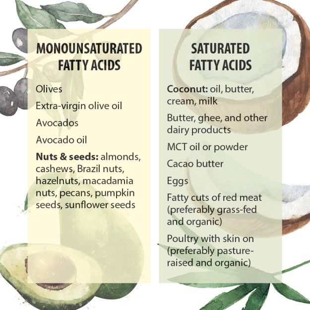 Keto diet without saturated fats