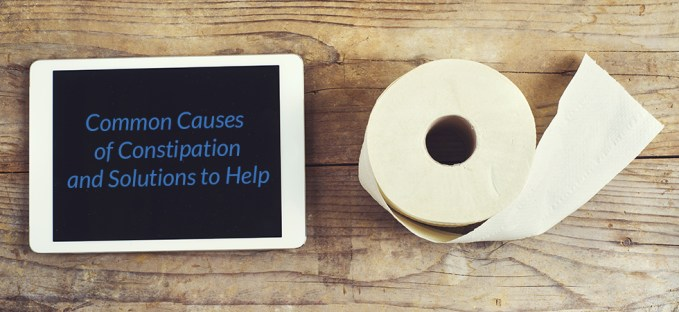 Toilet Paper and ipad for Constipation