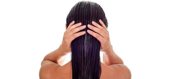 Collagen Hair Skin Nails Woman touching hair