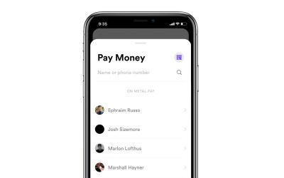 How do I add a contact to Metal Pay?