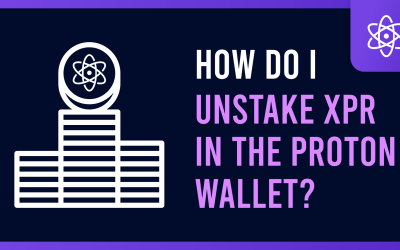 How do I unstake XPR in the Proton Wallet?