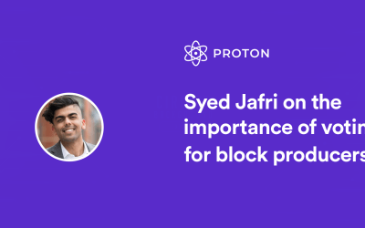 Syed Jafri breaks down the importance of voting for block producers