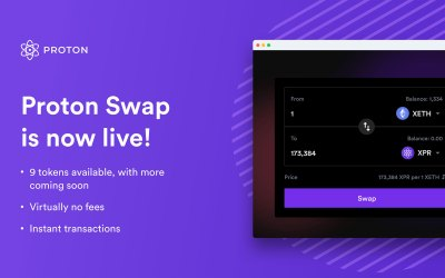 Proton Swap is now officially live!