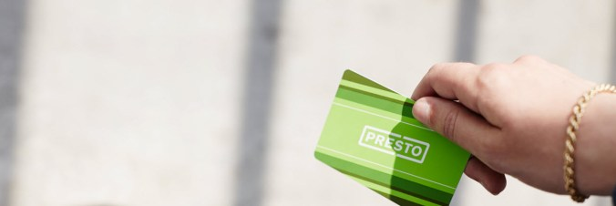 Image is of a PRESTO card.