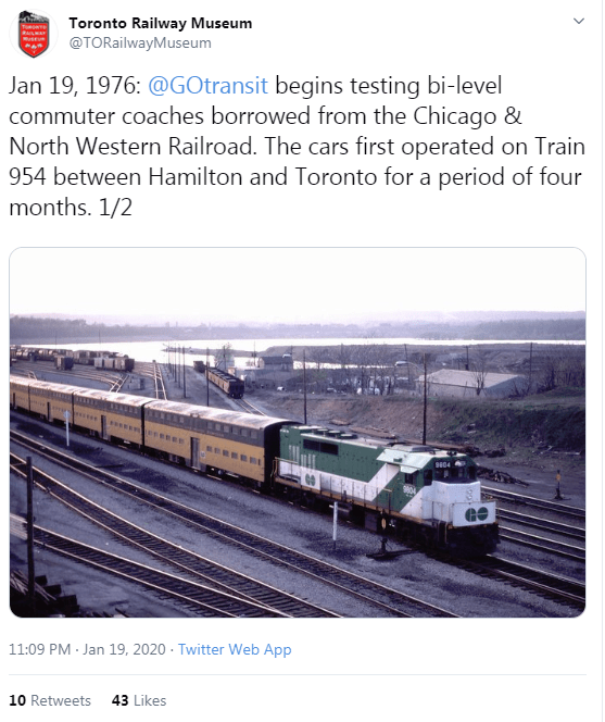 Image shows a Tweet noting a Jan. 19, 1976 bi-level trial.