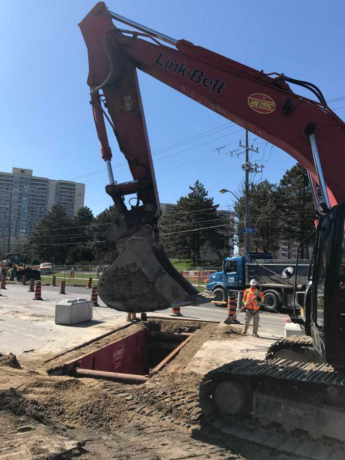 Watermain work taking place on Finch Ave. W. between Sentinel Rd. and Romfield Ln.