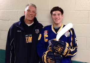 Michael Newnham (right, pictured with his father) was a grade 12 student at Lorne Park Secondary School in Mississauga