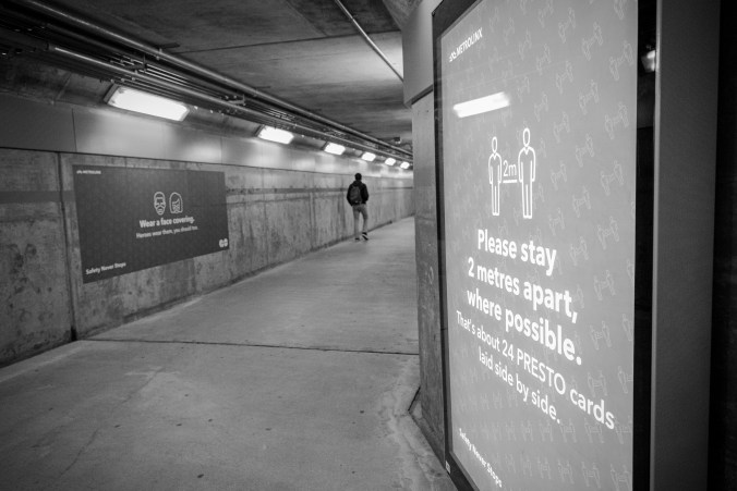 Image shows a pedestrian tunnel.