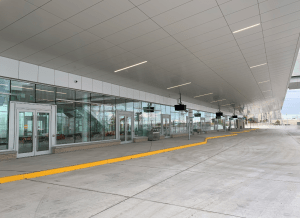 Image shows doors leading into the terminal.