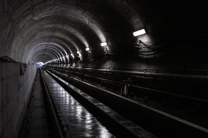 Image shows the inside of a tunnel.