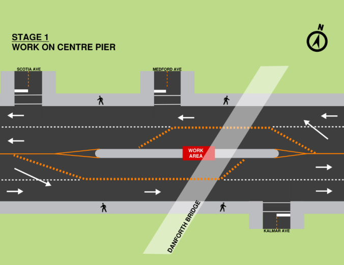 Image shows the construction map