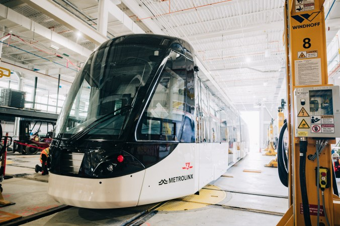 Crews look over the LRV