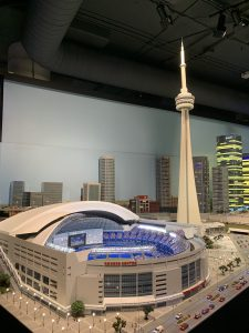 model CN Tower and Rogers Centre