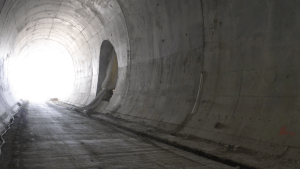 Image shows a tunnel.