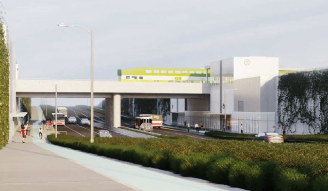 The new Finch-Kennedy GO station. Artist's rendering, final designs are subject to change