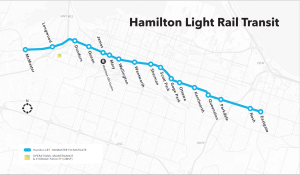 Image shows a map of Hamilton