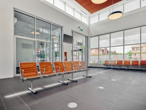 Image shows the waiting area.