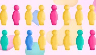 Ilustração com diversas pessoas em diferentes cores, representando as doenças raras