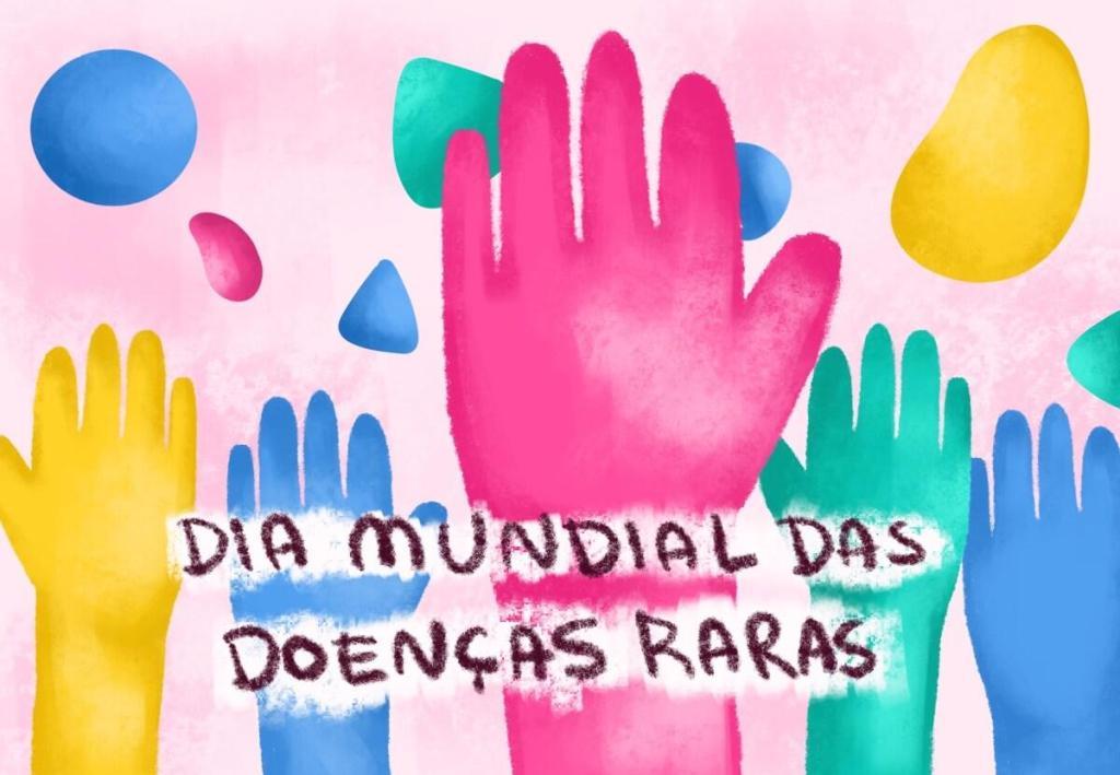 Ilustração de mãos coloridas