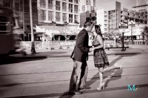 Engagement Downtown San Diego Gaslamp & Wind And Sea