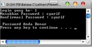Password Benar