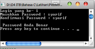 Password Benar