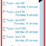 Jadwal Tugas Pemrograman Java