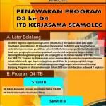Penawaran Program D3 ke D4 Serta S2 Kerjasama ITB SEAMOLEC