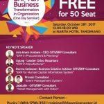 "One day Seminar Odoo ""ERP Run Business Transformation in Organization"""
