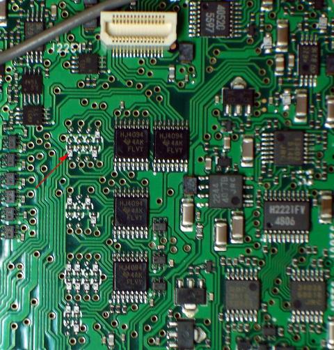 Burned Integrated Circuit On Printed Circuit Board