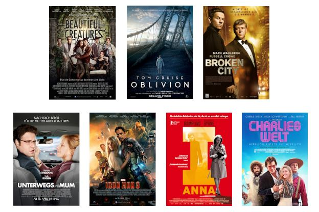 Kinofilme April 2013
