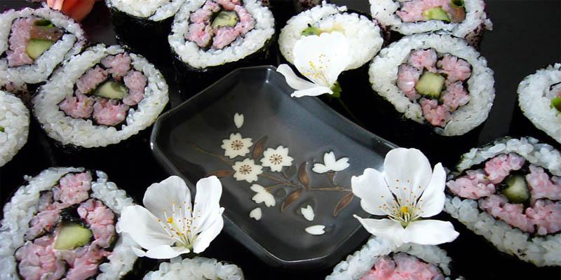 Sushi květiny