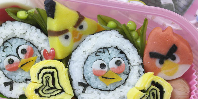 Sushi Angry Birds