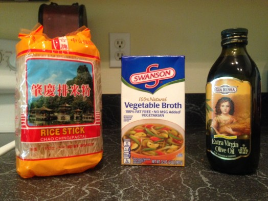 ingredients for vegetable pho