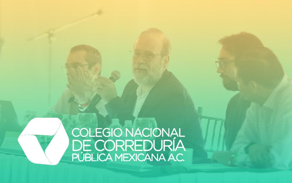 En la ponencia para corredores públicos participaron Tomás Álvarez Melis, Alfredo Reyes Krafft y Eduardo de Alba Góngora.