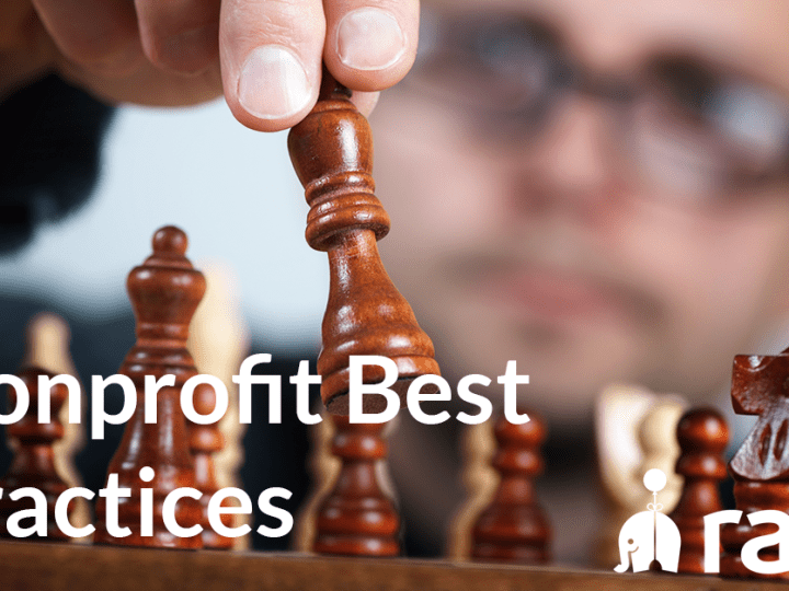 Photo of man playing chess with Nonprofit Best Practices text overlay