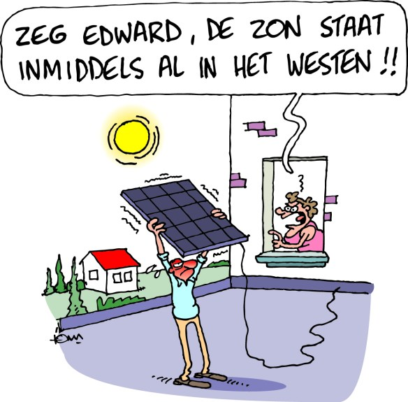 cartoon zonnepanelen