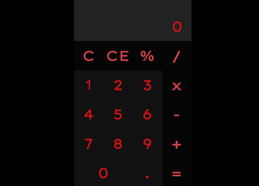 Screencap of my calculator