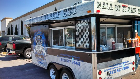 Hall of Flame BBQ trailer
