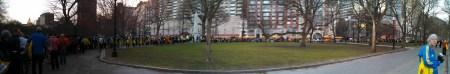 boston marathon loading buses