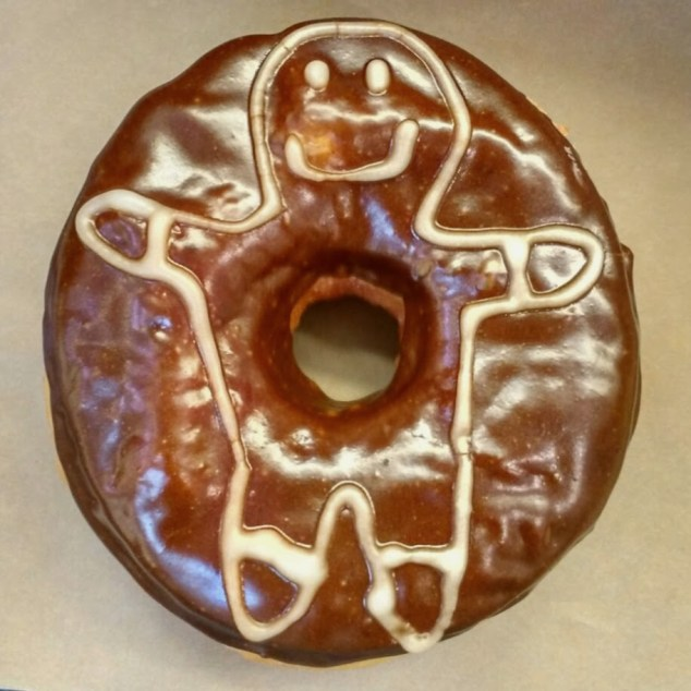 Red Rabbit Gingerbread Donut