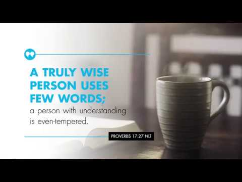 K-LOVE's Verse of the Day: Proverbs 17:27 – YouTube