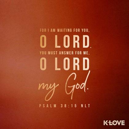 Psalm 38:15 NLT