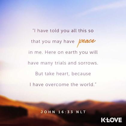 John 16:33 NLT