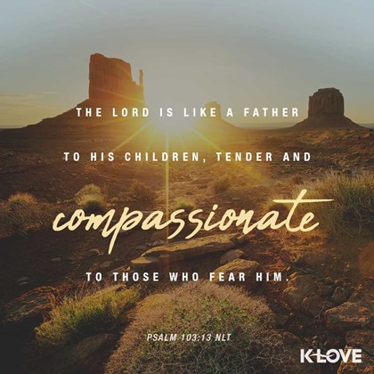 Psalm 103:13 NLT